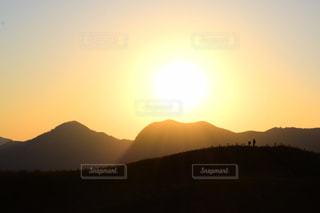 空,夕日,屋外,影,眺め,曽爾高原