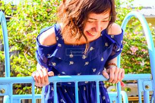 公園,屋外,青,笑顔