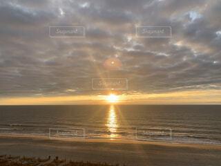 自然,海,空,太陽,朝日,ビーチ,砂浜,海岸,正月,お正月,日の出,新年,初日の出