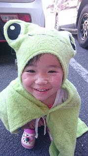雨,かわいい,子供,女の子,人,カエル,キュート,かえる
