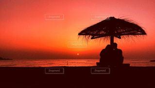 夕日ヶ浦の夕景の写真・画像素材[1272839]