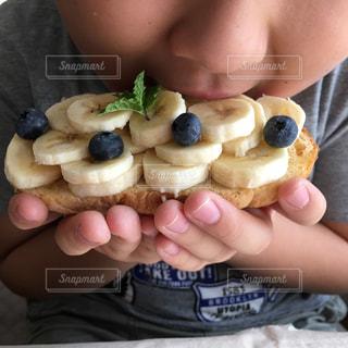 フルーツ,果物,トースト,果実,朝ごはん,バナナ