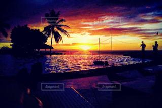 海,空,夕日,プール,夕暮れ,夕陽,サンセット,セブ島,黄昏時,カモテス島