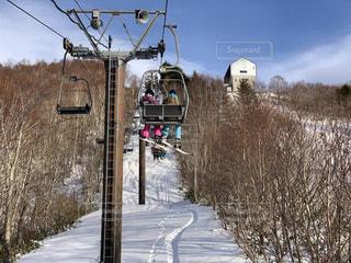 空,冬,カップル,雪,屋外,旅行,スキー,スノボ,リフト,スノーボード