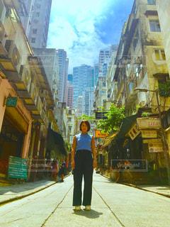 海外,女子,道,旅行,旅,道端,路地,香港,海外旅行,世界,バックパック,タビジョ