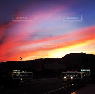 空,夕日,夕暮れ,山梨,ほったらかし温泉,山梨市駅