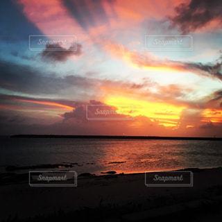空,夕日,夕暮れ,沖縄,beach,久米島