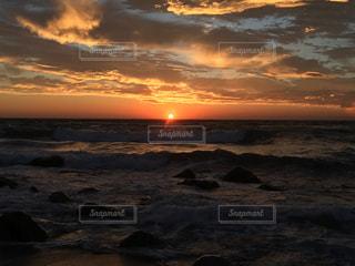 海,空,夕日,太陽,夕暮れ,東京都,beach,離島,神津島