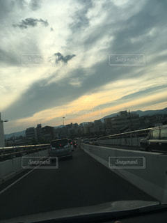 風景,空,屋外,道路,道
