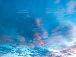 風景,空,秋,雲,青,朝焼け,朝,秋空