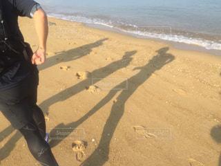 海,砂,波,影,走る,浜辺,ランニング,マラソン,海水,トレーニング,フルマラソン,42.195km