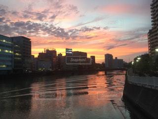 夕日,夕陽,福岡,天神,夕陽夕日,福岡市中央区