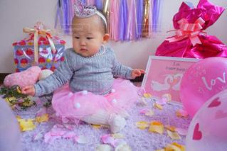 ピンク,女の子,赤ちゃん,誕生日