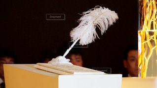 結婚式、誓のサインの写真・画像素材[1242169]