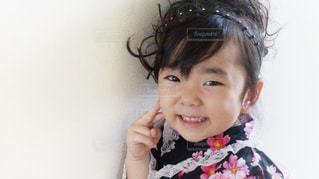 浴衣姿で笑顔の女の子の写真・画像素材[1361697]