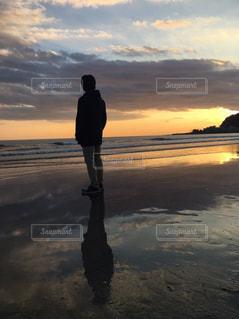 海,夕日,きれい,神奈川,由比ヶ浜