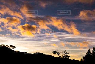 空,カメラ,夕焼け,秋空