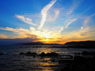 自然,風景,海,空,夕日,雲,夕暮れ,夕陽,夕景,sunset,夕空