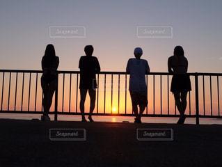 夏の夕日の写真・画像素材[1317551]