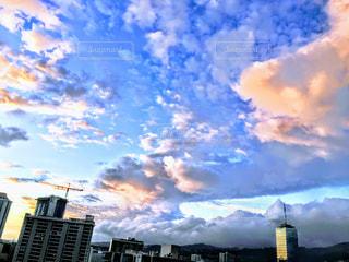 空,建物,屋外,雲,夕暮れ,都会,高層ビル,ハワイ