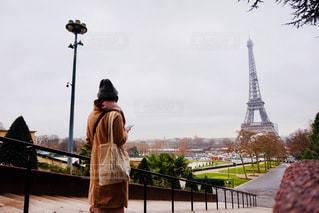 風景,冬,カメラ,旅行,旅,フランス,パリ,エッフェル塔,1人旅