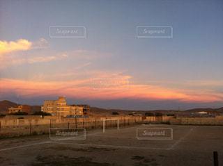 空,夕日,雲,サッカー,海外旅行,グラウンド,ウユニ,ボリビア