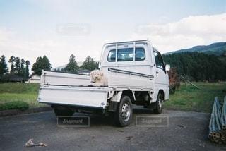 道路を走っているトラックの写真・画像素材[2728162]