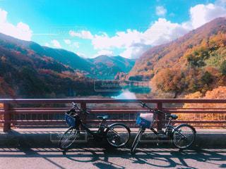 紅葉,サイクリング,群馬,四万温泉,奥四万湖,四万ブルー