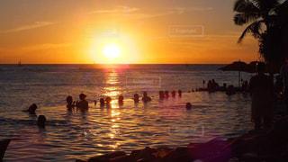 風景,海,空,ハワイ,ワイキキ,サンセット,シェラトンワイキキ,インフィニティプール