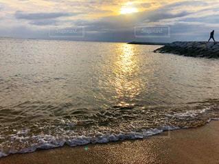 自然,風景,海,夕日,屋外,景色,景観