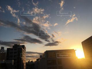 空,夕日,夕方