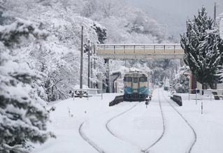 「雪」「雪化粧」「汽車」「駅」「徳島」,「風景」「ホワイト」「白」「鉄道」