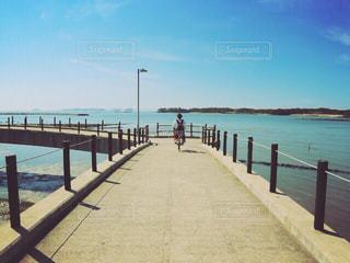 自転車と空と海の写真・画像素材[1258493]