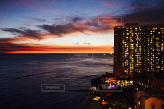 空,夕焼け,夕暮れ,ハワイ,Hawaii