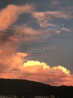 ピンク,雲