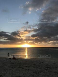 海,夕日,砂浜,GUAM,ryoko5627