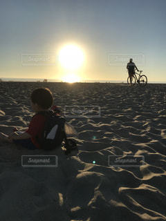 海,空,夕日,ビーチ,kids,ベニスビーチ,ryoko5627,venisbeach