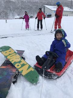 雪,晴れ,北海道,子供,雪遊び,スノーボード,ニセコ,ウインタースポーツ,そり,5627ryoko