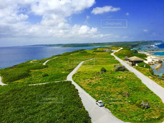 宮古島の灯台からの眺めの写真・画像素材[1385275]