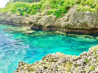 沖縄の度胸試しの飛び込み場の写真・画像素材[1395063]