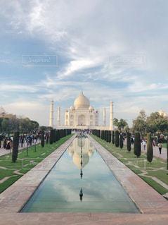 旅行,シンメトリー,インド,海外旅行,タージマハル