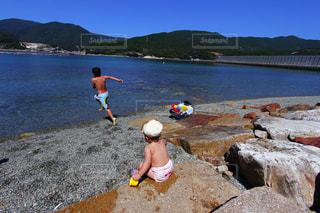 自然,海,夏,海水浴,暑い,元気,遊び,夏休み,水遊び,summer,兄妹,猛暑