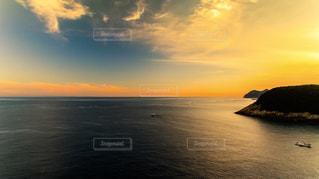 自然,海,秋,夕日,綺麗,田舎,景色,ドローン,空撮,里帰り