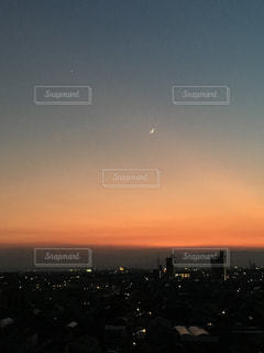 空,夕日,夕焼け,夕暮れ,幻想的,オレンジ,名古屋市