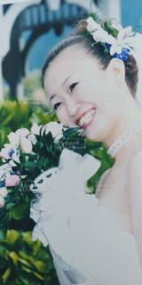 花を食べる少女の写真・画像素材[1247334]