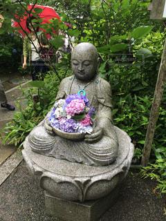 雨,紫陽花,梅雨,お地蔵さん