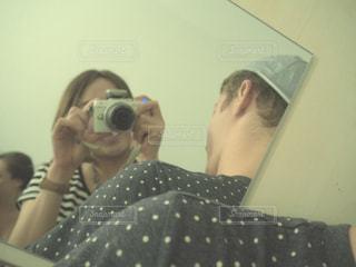カメラ,鏡,外人,外国人,フィルム風,異文化交流,かがみ