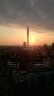 空,東京,夕焼け,スカイツリー,旅行,夕陽