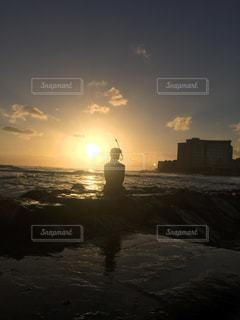 夕日,海岸,ハワイ,リゾート,サンセット