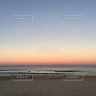 海,空,夕日,ビーチ,砂浜,シドニー